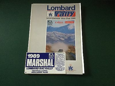 Official Programme Lombard RAC Rally 1989 Exellent Condition