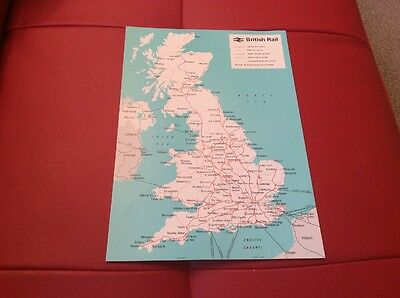 British Rail A4 Poster Map
