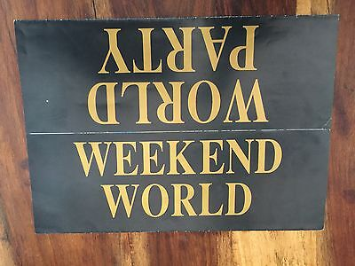 Rave Flyers World Party 1992