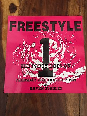Rave Flyers Freestyle 1989