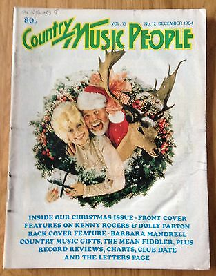 COUNTRY MUSIC PEOPLE Mag DEC 1984 Dolly Parton Kenny Rogers Barbara Mandrell
