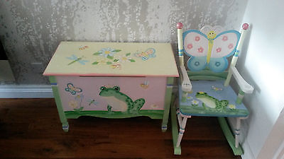 Fantasy Fields By Teamson Magic Garden Toybox And Rocking Chair