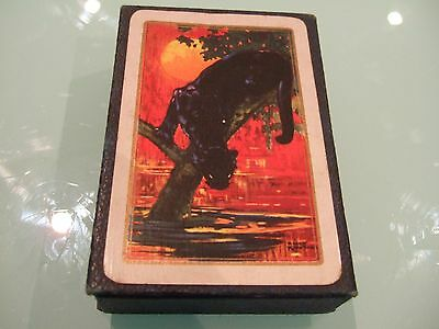 Vintage 1920's Waddington's Panther Gilt Edge Playing Cards Complete SUPERB