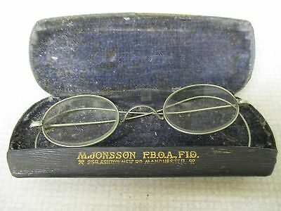 Vintage Spectacles - silver coloured frame / small oval shape