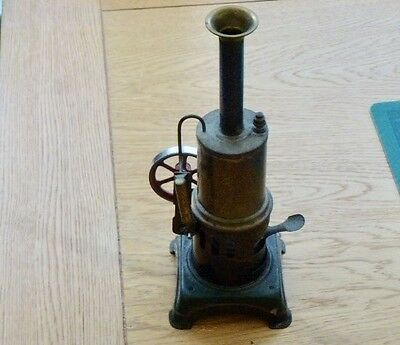 Vintage German Rare Doll Dc Live Steam Engine With Funnel And Burner Assy