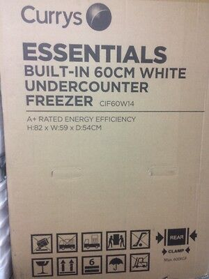 BRAND NEW ESSENTIALS CIF60W14 Integrated Undercounter Freezer - A+ Energy Rating