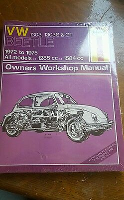 Vw beetle T1 72-75 Haynes workshop manual