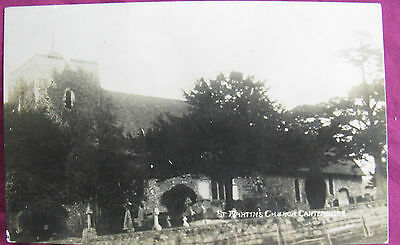 St.Martin's Church. Canterbury. Postcard Used with US Stamp