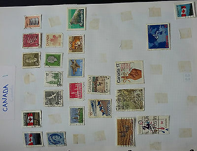 4 Ring Binder with collection of stamps see pictures