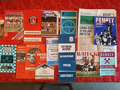 19 x assorted football programmes from the 1970s