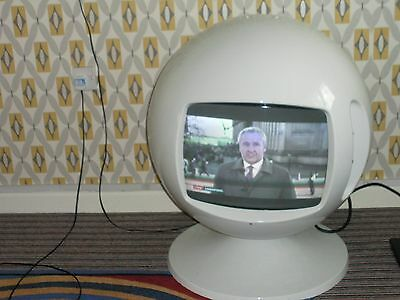 space age round working television
