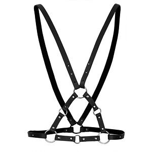 Topshop ring detail black genuine leather harness