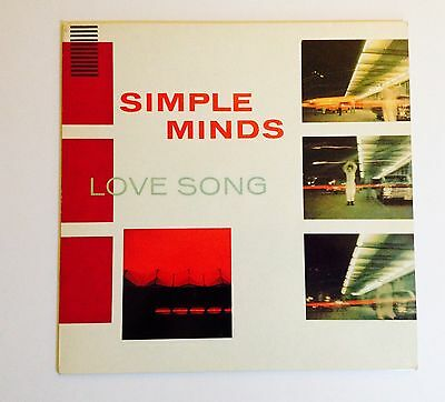 """Simple Minds Love Song 12"""" Single"""