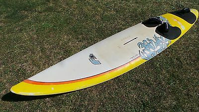 F2 Ride 266 Windsurf Board with Dakine footstraps and Concrete Wave fin