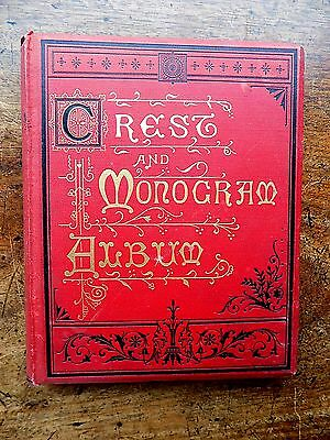 Victorian Antique Crests Monograms Album Royalty Military Naval India Golf Book