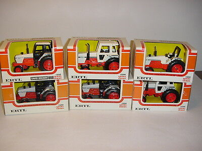 1/32 Case/David Brown Set of 6 Dealership Tractor's by ERTL W/Boxes!