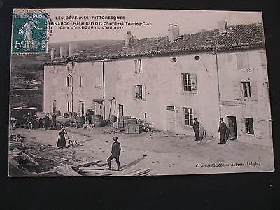 CPA LANARCE -Hotel GUYOT , Chambres Touring-Clud (CÉVENNES PITTORESQUES)