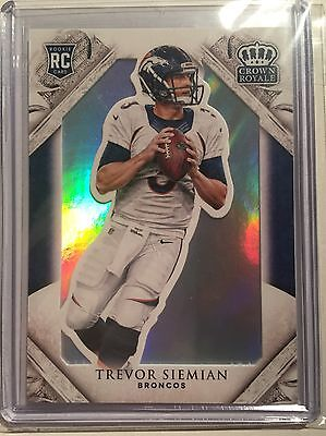 Trevor Siemian (Broncos) 2015 Crown Royale RC. His Only True Rookiecard!