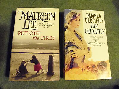 2 books Maureen Lee, Put Out The Fires & Pamela Oldfield, Lily Golightly