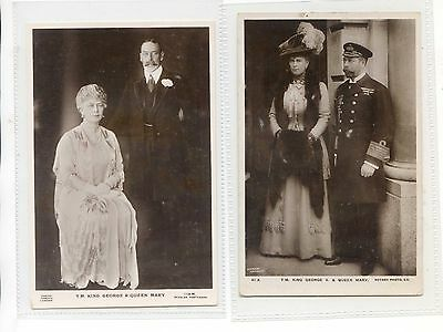 Royalty - Two Rppc King George V & Queen Mary