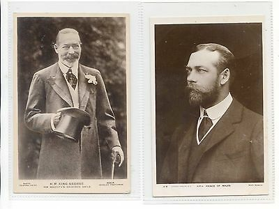 Royalty - Two Rppc King George V  And As The Prince Of Wales