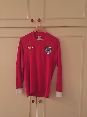 England Football Shirt 36in Chest Long Sleeve Red
