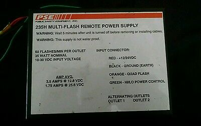 Code 3 PSE 235H Multi-Flash Remote Strobe Power Supply - Used, works great!