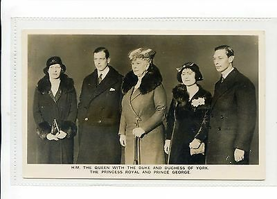 Tuck Rppc Queen Mary Duke & Duchess Of York Prince George & Princess Royal