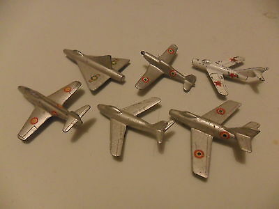 6 X Mercury aeroplanes for restoration, diecast like Dinky aircraft.