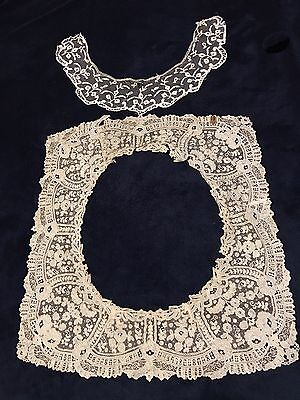Antique Large Lace Collar and small Lace Collar