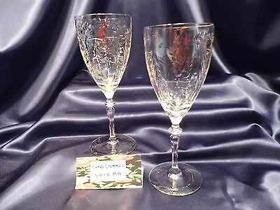 Libbey Rock Sharpe 2011-31 Crystal Water Wine Glass set of two