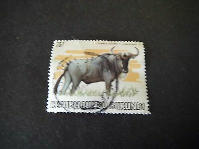 1982 Burundi USED stamp 75f African Animals BLUE WILDEBEEST Catalogued £140.00