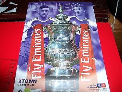 IPSWICH TOWN v LINCOLN CITY FA CUP THIRD ROUND PROGRAMME