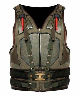 Men's Halloween The Dark Knight Rises Bane Vest Celebrity Looks Faux Leather