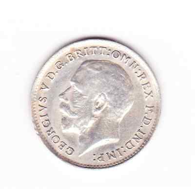 George V silver 3d 1919