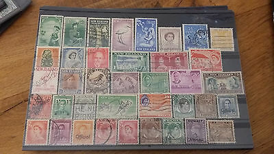 38 Timbres Colonies Anglaises Obliteres Lot V2