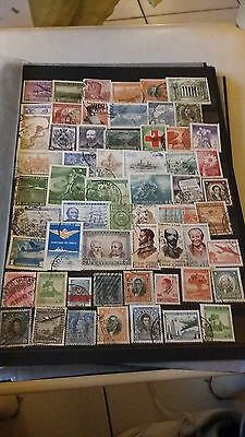 59 Timbres Chili Obliteres Lot S1