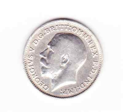 George V silver 3d 1912