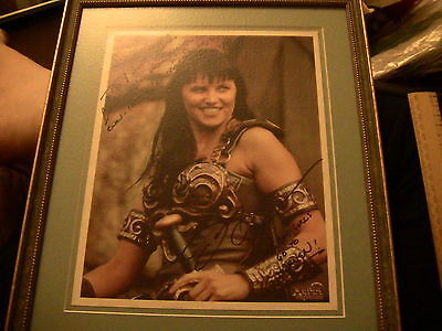 Framed Official Xena Signed Photograph Authenticity included.