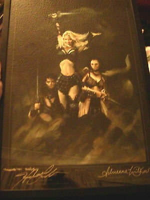 Xena Warrior Princess Liited edition Fantasy Art Thorpe 2001 War Party Signed