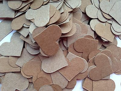 300 Heart Confetti Table Sprinkles Shabby Chic Kraft Wedding Party Decoration