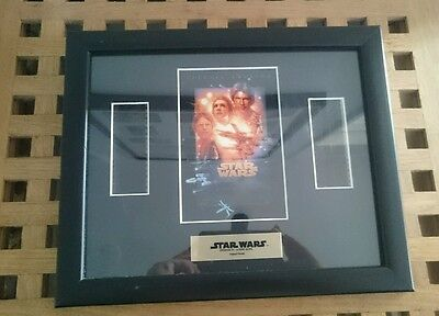 Star Wars A New Hope Framed Film Cell Inc. Certificate of Authenticity