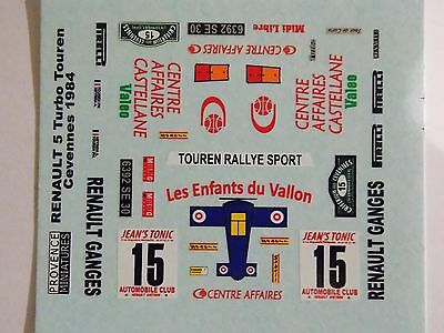 Decals 1/43 Renault 5 Turbo Touren Cevennes1984