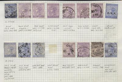 India Two  Qv Unused (3 Nh) And Used Used Six Stamps With Write Up