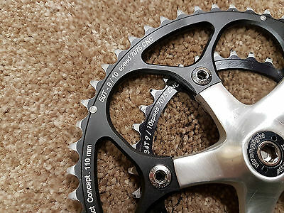 Chainset - Forged Stronglight Classic, Campagnolo Record Era, 10 speed CNC