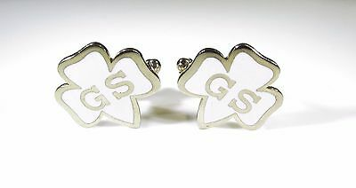 Cufflinks with Vintage Girl Scout Logo
