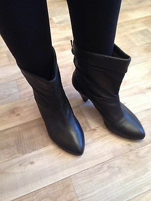 Office Leather Ankle Boots Size 41 7.5