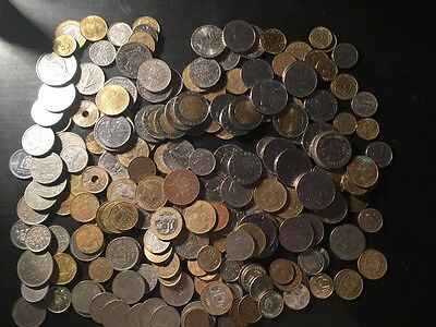 Large Lot Of European Pre Euro Coins 900 Grams / France Italy Holland Belgium It