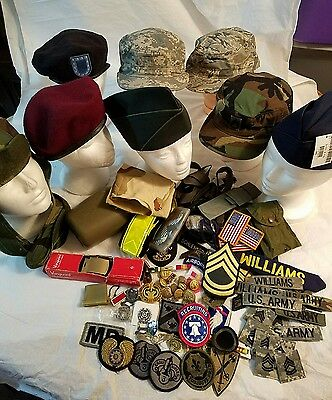 Military patches and hats lot mixed lot United States Army some Vintage #5