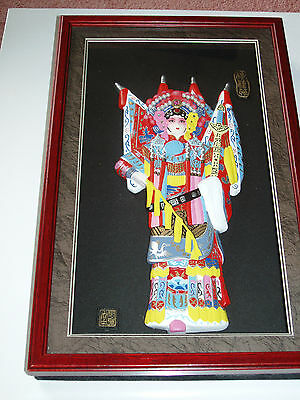 Chinese Kung Fu Heroine Mu Guiying In Traditional Dress In Glass Fronted Case